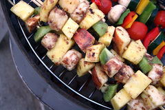 Fruit and Vegetable Kabobs Stock Photography