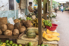Fruit and vegetable market in Old Havana. Cuba stock photo