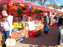 Fruit and vegetable market. Royalty Free Stock Photos
