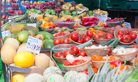 Fruit and Vegetable Market Stall. Royalty Free Stock Photography
