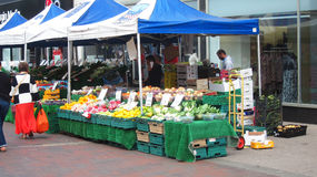 Fruit and vegetable market stall. Stock Image