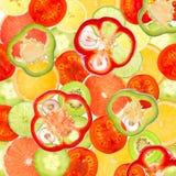 Fruit vegetable mix Stock Photos