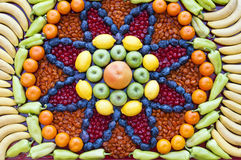 Fruit and vegetable mosaic Stock Images