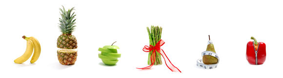 Fruit and vegetable parade Stock Image