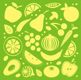 Fruit and vegetable pattern Stock Photography