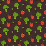 Fruit and vegetable pattern. Stock Photography