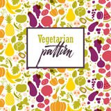Fruit and vegetable pattern. Fruit and vegetable rainbow pattern. Healthy food table in rainbow. Vegan and vegetarian cuisine Royalty Free Stock Photo