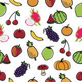 Fruit and Vegetable Pattern Seamless  background. Stock Image