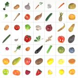 Fruit and vegetable. Realistic 3d render of fruit and vegetable Royalty Free Stock Photography
