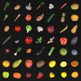 Fruit and vegetable. Realistic 3d render of fruit and vegetable Royalty Free Stock Image