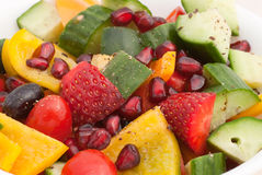 Fruit and vegetable salad Stock Image