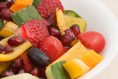 Fruit and vegetable salad Royalty Free Stock Photos