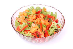 Fruit and vegetable salad Stock Photo