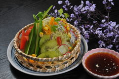 Fruit and vegetable salad Royalty Free Stock Photography