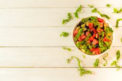 Fruit and vegetable salad royalty free stock images