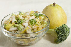 Fruit - vegetable salad of pears  . Royalty Free Stock Photo
