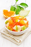 Fruit vegetable salad in white bowl Stock Image