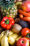 Fruit and Vegetable Selection Royalty Free Stock Images