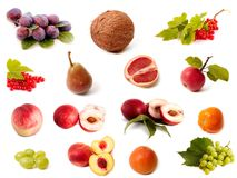 Fruit and vegetable set Royalty Free Stock Photography