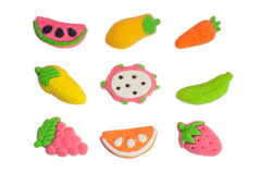 Fruit and vegetable shaped gummy candy Royalty Free Stock Photography