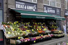 FRUIT AND VEGETABLE SHOP Stock Image