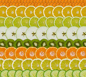 Fruit/vegetable slices royalty free stock photos