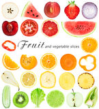 Fruit and vegetable slices Stock Photos