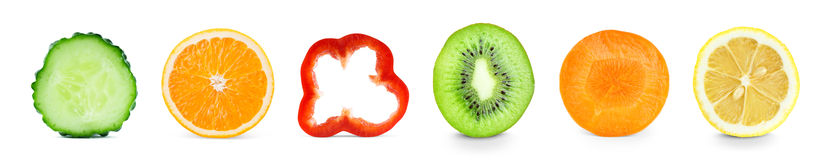 Fruit and vegetable slices Stock Photo