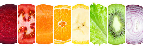 Fruit and vegetable slices Royalty Free Stock Photography