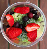 Fruit and vegetable smoothie Stock Image