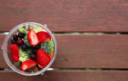 Fruit and vegetable smoothie Royalty Free Stock Photos