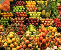 Fruit and vegetable stall royalty free stock photography