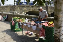Fruit and vegetable stall. Arundel. England Royalty Free Stock Photo