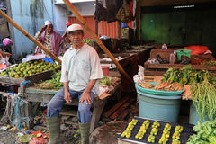 A fruit and vegetable stall in an Indonesian market Stock Image