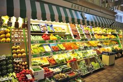 Fruit and Vegetable stall, Oxford market royalty free stock image