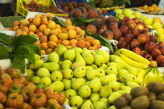 Fruit and Vegetable Stand or Farmers Market Stock Photos