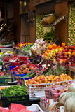 Fruit and vegetable stand. In street market Royalty Free Stock Images