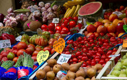 Fruit and vegetable stand Stock Photography