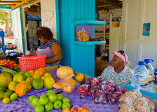A fruit and vegetable stand in the tropics Stock Image