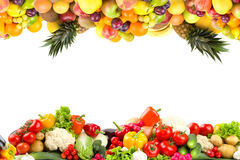 Fruit and vegetable textures stock images