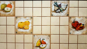 Fruit and vegetable tiles Stock Image