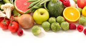 Fruit and vegetable. Top view Royalty Free Stock Image