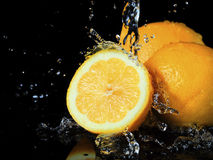 Fruit & Vegetable. Fruit & Vegetable, two and half orange Royalty Free Stock Photography