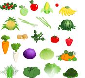 Fruit & Vegetable Royalty Free Stock Photos
