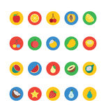Fruit and Vegetable Vector Icons 1 Royalty Free Stock Photo