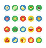 Fruit and Vegetable Vector Icons 2 Royalty Free Stock Photos