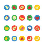 Fruit and Vegetable Vector Icons 3 Stock Image