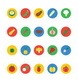 Fruit and Vegetable Vector Icons 4 Stock Photo