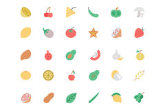 Fruit and Vegetable Vector Line Icons 2 Royalty Free Stock Image