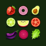 Fruit and Vegetable Vector Stock Photos